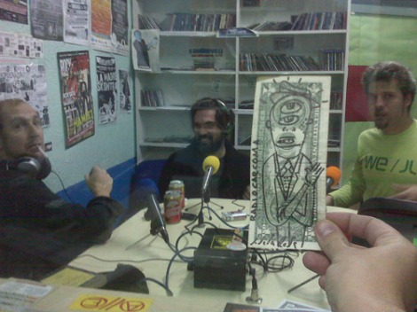 En el estudio de Radio Carcoma